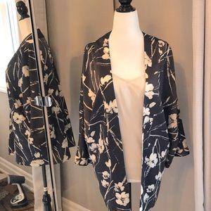 🌸Floral Satin Print Jacket